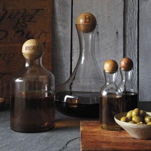 Glass Bottle Wooden Stopper