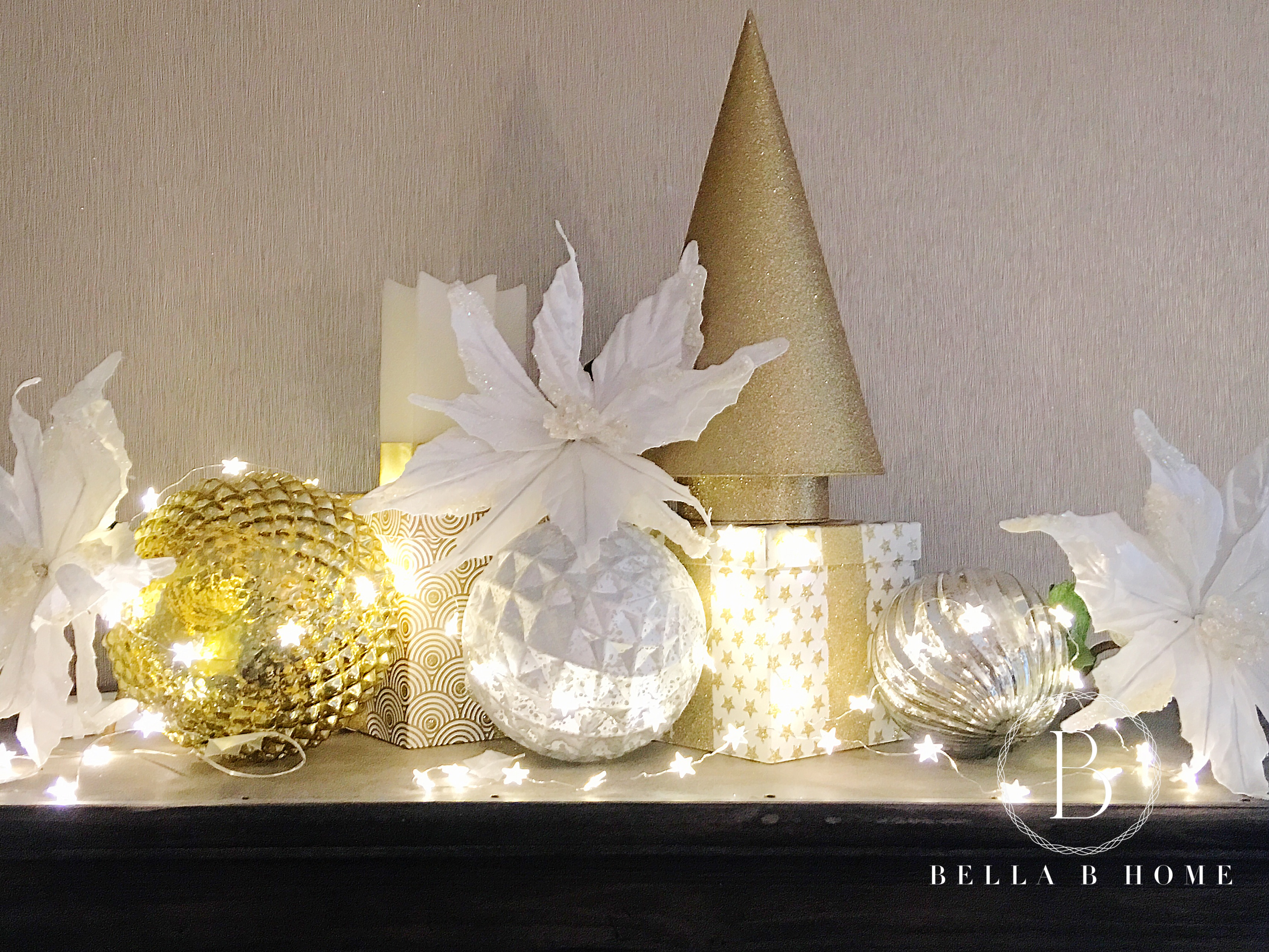 Why do we decorate with christmas lights - At Homegoods We Found Boxes That Were Filled With Candy To Do The Trick Again Add Some Lights Candles Large Decorative X Mas Ornaments